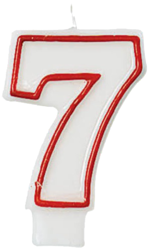 large-3-number-7-candle-red-outline