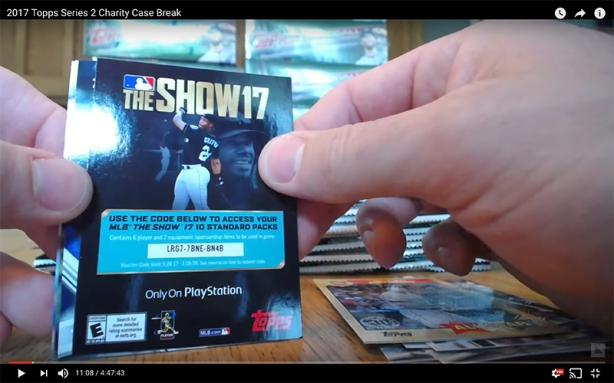 MLB The Show 17 Code Card